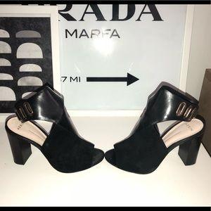 Stunning Aerin Black/Suede Block Heel